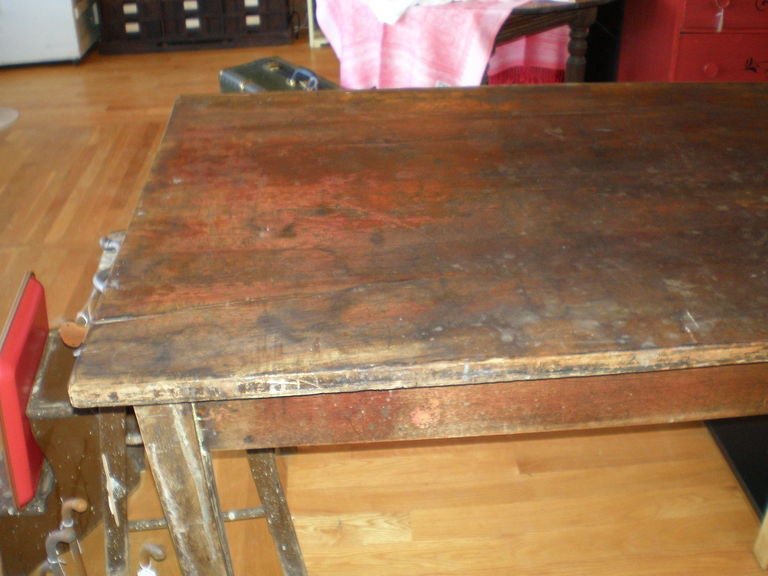 Primitive Pine Table From Old School 12 Feet Long At 1stdibs